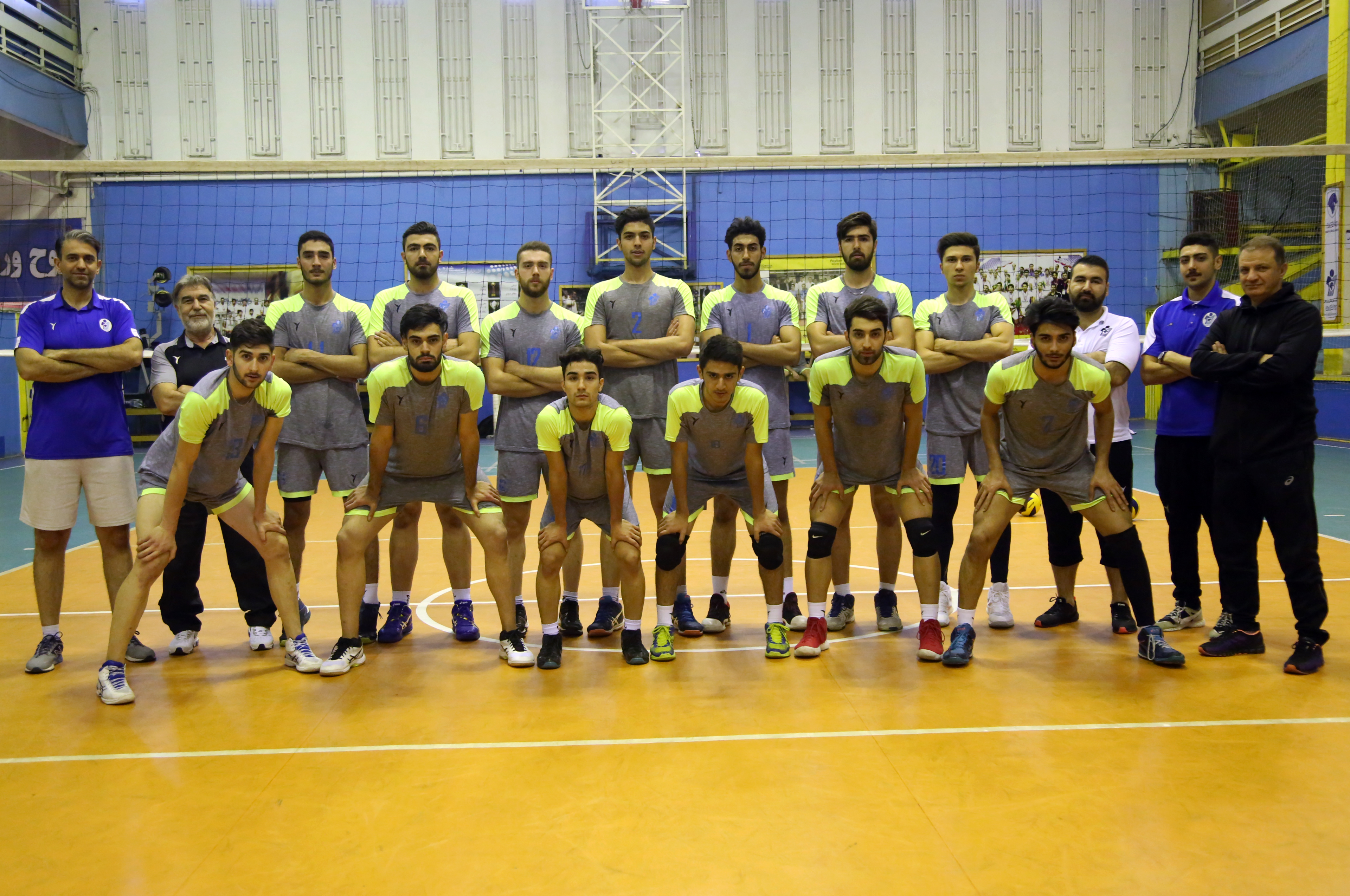 paykan U18 volleyball team gained championship of iran's volleyball U18 league