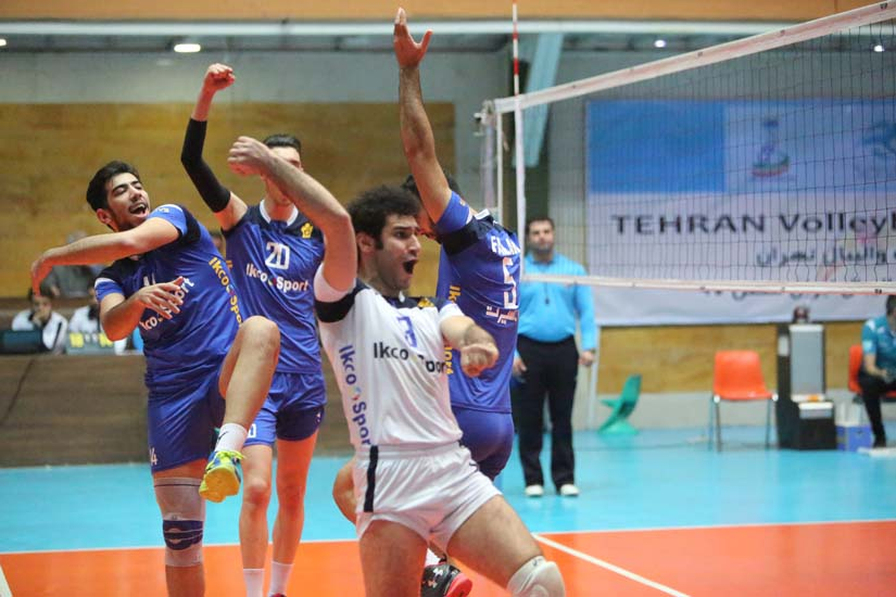 great victory of paykan 's volleyball team VS saipa/paykan won the derby of auto maker